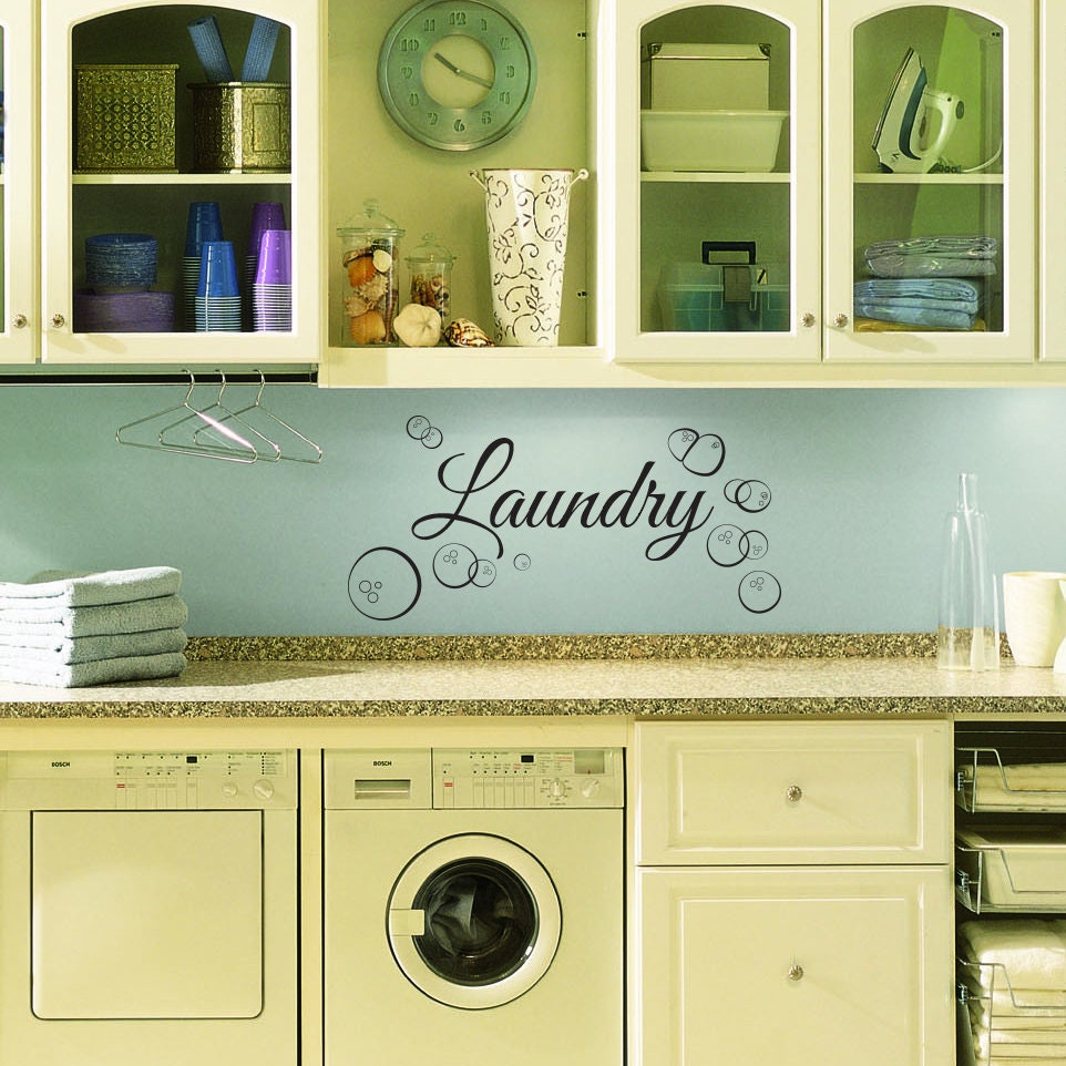 Laundry Room Wall Decor Stickers : Laundry room wall decal custom for