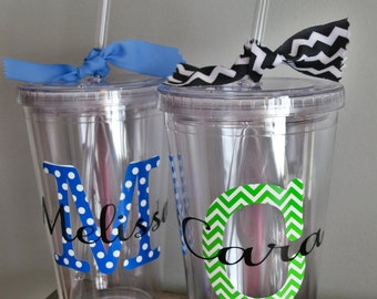 Initial and Name Personalized Tumbler
