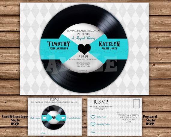 Record Wedding Invitations: Vinyl Record Wedding Invitation Unique By PartyPrintExpress