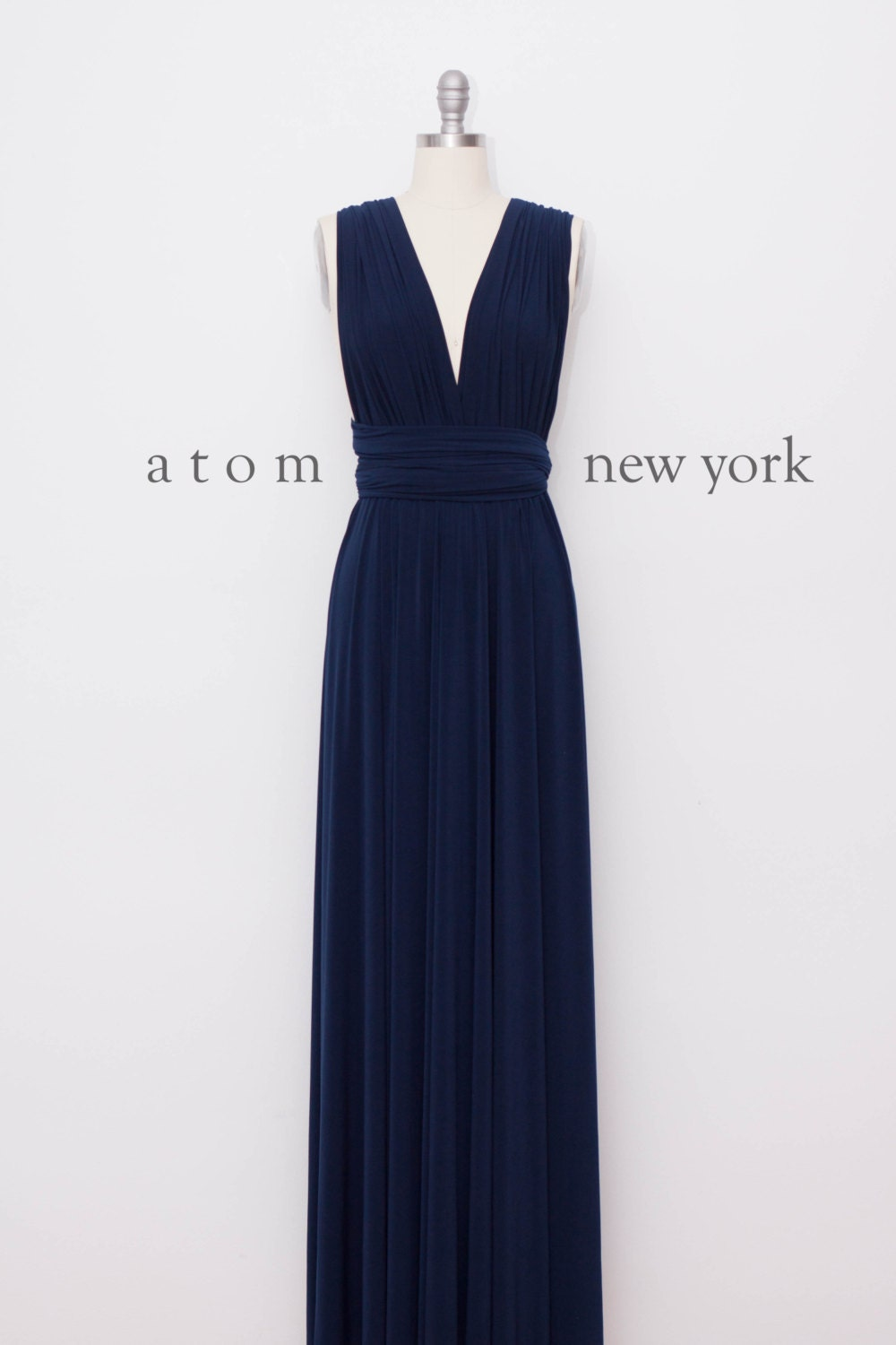 Navy Blue LONG Floor Length Ball Gown Maxi Infinity by ...