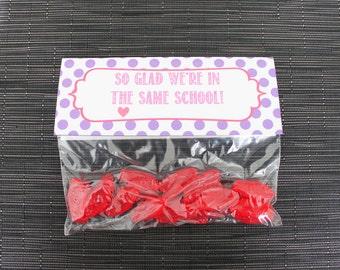 Printable Valentine's Day Treat Bag Topper- So Glad We're In The Same School