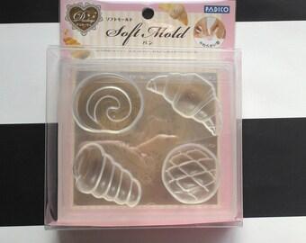 SALE Padico bread patisserie melon bread swiss roll choco brioche hearty clay soft mold half air dry uv resin