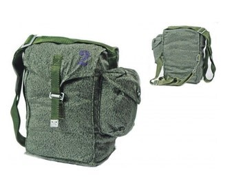 Army canvas shoulder bag with waist strap - perfect for cycling foraging hiking hunting bushcraft