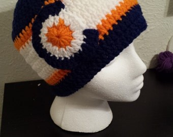 Denver Broncos Colorado Flag Hat - Broncos Hat - Broncoes Beanie - Colorado Flag hat - Colorado flag Beanie - Crochet - Handmade