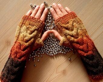 EXPRESS CARGO Batik Color Fingerless Gloves  Winter Accessories  Women Mittens Knit Fingerless Gloves  Gifts For Her. Formalhouse