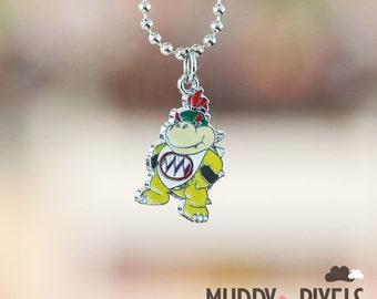 Mario Bros Necklace featuring Baby Bowser