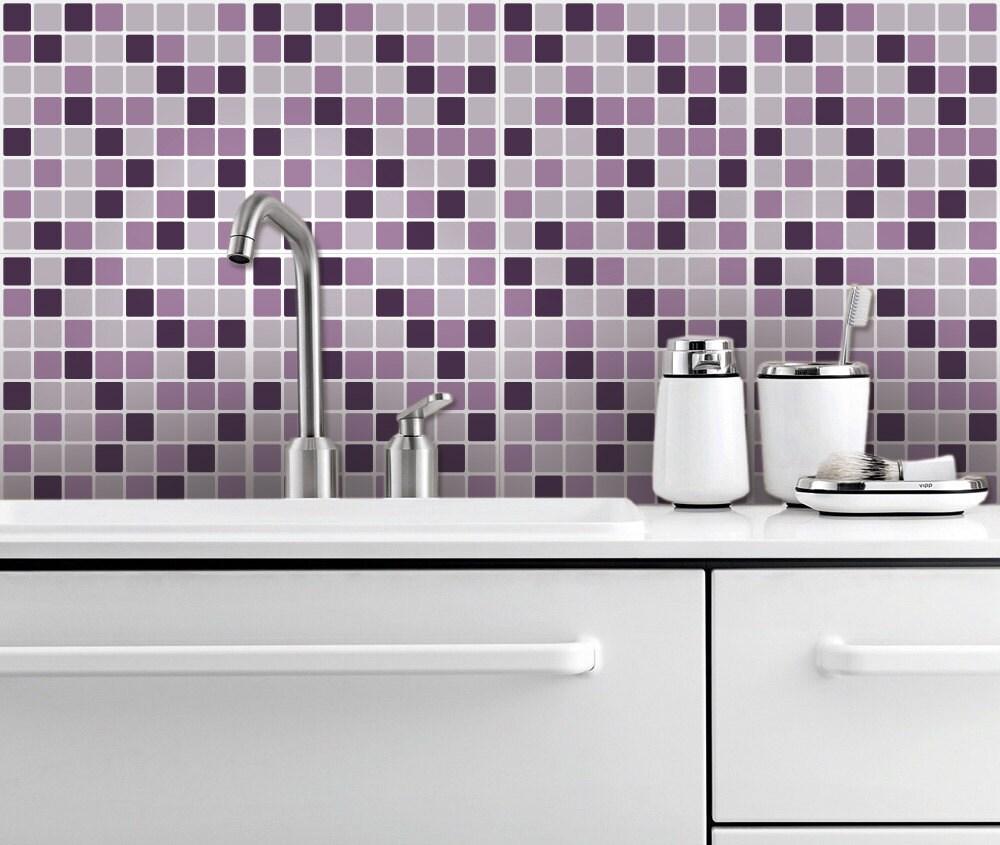 Lilac Mosaic Self Adhesive Tile Stickers Mosaic Tile