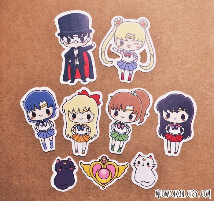 Sailor Moon Stickers By Meowcaron On Etsy