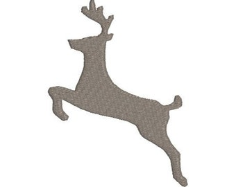 Embroidery Design Pattern Leeping Stag Deer Reindeer