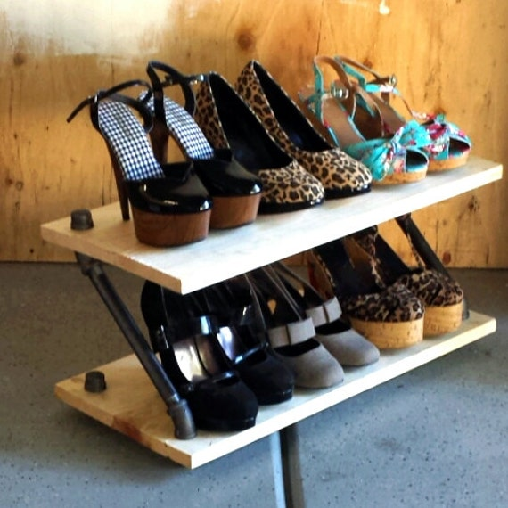 industrial shoe rack high heel shoe shelf by coronaconceptsco