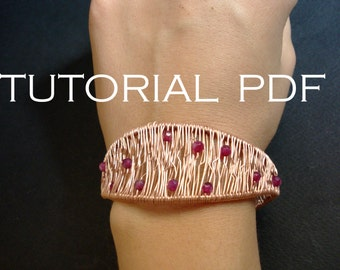 Bracelet tutorial, bracelet tutorial in handmade, wire bracelet tutorial, wrap bracelet tutorial, wire wrapped bracelet tutorial, pdf