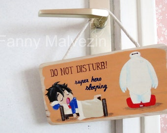"Hiro (Big Hero 6) door panel ""Do not disturb"""