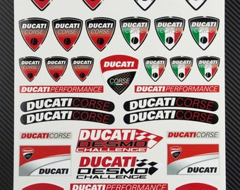 Ducati Corse decal sheet motorbike fairing stickers set racing 24x32 cm. 749 848 999 1098 1198 1199 Laminated graphics