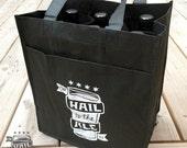 SALE!! 6 Bottle Reusable Beer Tote; Beer Gift, Craft Beer, Beer Bag, Tote Bag, Gift for Men, Beer Bottle Holder, Reusable Bag, Beer Glass