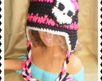 Monster High Crochet Hat Made with Soft yarn