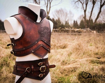 """Medieval fantasy leather armor """"the Pirate"""""""