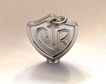CTR Charm for use on necklaces, bracelets, rings, and LDS Jewelry. Fun for LDS Primary and Activity Days. Young Women Girls Camp Craft.