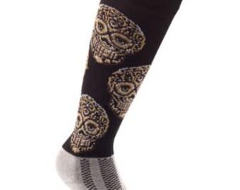 Samson® Crystal Skull Funky Socks Sport Knee High Sport Football Rugby Soccer
