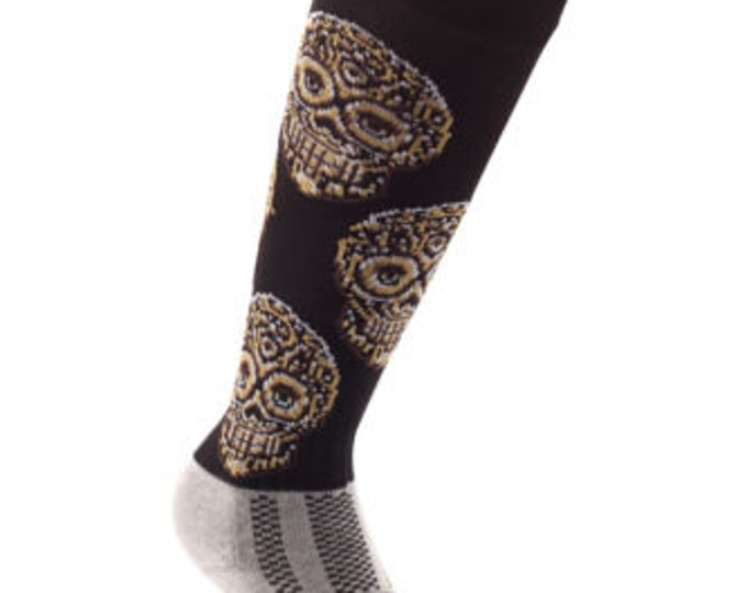 Samson® Crystal Skull Funky Socks Sport Knee High Sport Football Rugby Soccer