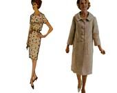 60s Sheath Dress and Matching Coat vintage pattern 40-32-42 uncut madmen XL plus size