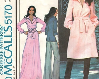 McCall's 5170 Pullover Dress or Top MARLO'S CORNER VINTAGE 1970s ©1976