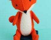 F is for Fox: PDF hand sewing pattern
