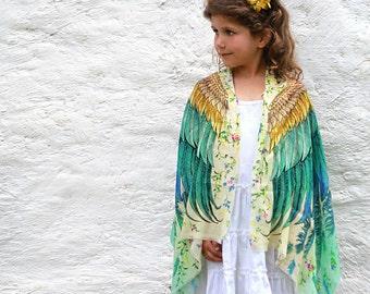 Kids Kimono, Boho Kids Scarf, School Kids Costume, Unisex Kids Gift, Kids Accessories, Girls Scarf, Children Scarf, Baby Wings, Unusual Gift