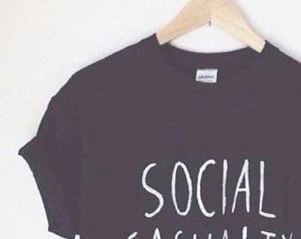 Black Cool Social Casualty Unisex Grunge Top