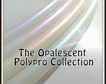 """OPALESCENT POLYPRO - Push-Button Collapsible 3/4"""" Opal Polypro Hoops in THREE Colors."""