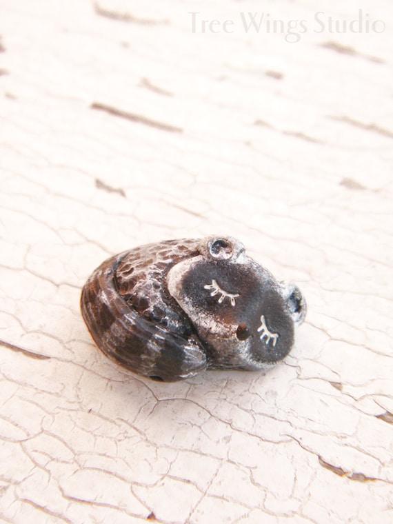Little Raccoon bead - Sleepy Woodland Critters (ready to ship)