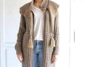 vintage Susan Toplitz chunky sweater coat oversized