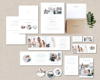 SALE! Photography Marketing Set for Wedding Photographers & Planners - Business Card- Pricing Guides - Instant Download