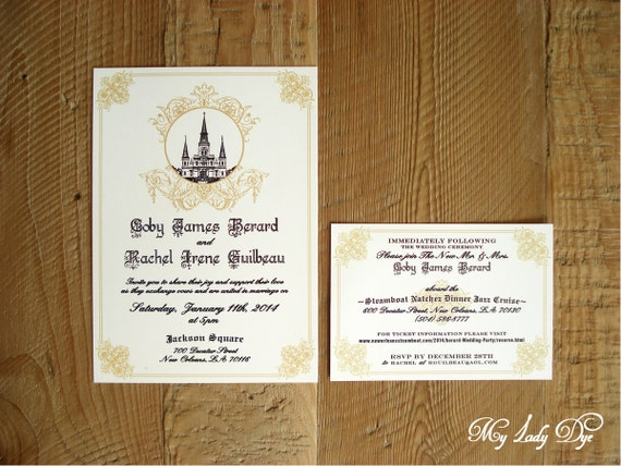 Wedding Invitations New Orleans: 100 Jackson Square New Orleans Wedding Invitations By