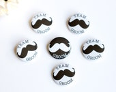 Mustache Pin, Moustache Badges, Team Groom, Bachelor Party, Wedding Button, Stag Night, Best Man Pin, Groomsman Button, Engagement Party Pin
