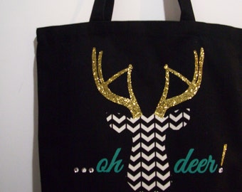 SO SASSY 'Oh Deer!' Canvas Tote