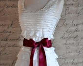 Satin sash in your choice of colors. Bridal belt Bridesmaids sash Flower Girl sash. Burgundy wine shown