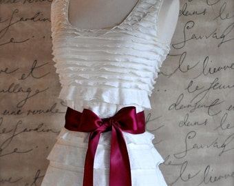 Satin sash in your choice of colors. Bridal belt Bridesmaids sash Flower Girl sash. Burgundy wine shown