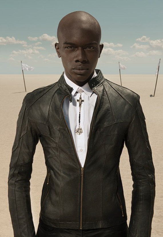 HORNET Men&39s Leather Jacket Black or Brown Lambskin by janhilmer