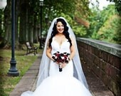 Jaw Dropping Plunging Back Wedding Dress with French Lace and Tulle Custom Made to your Measurements