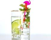 Acrylic Drink Stirrer - Laser Cut Flamingos, Set of 5