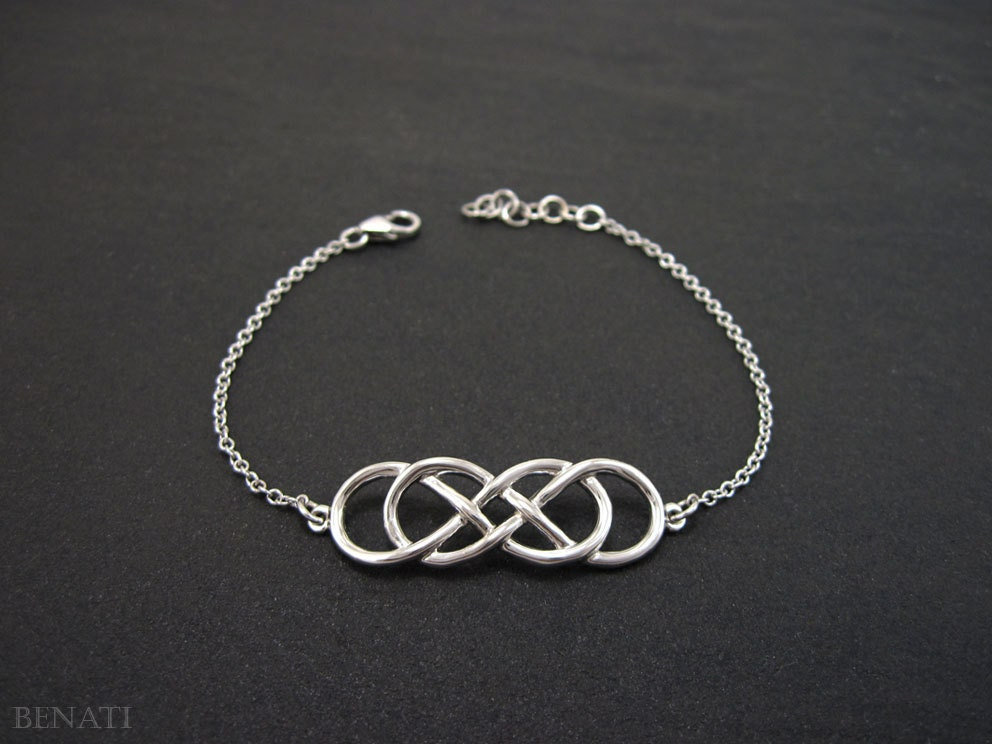 Gold Infinity Bracelet Double