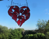 Bespoke Stained Glass Heart Custom Personlized Unique Decor Suncatcher Glass Panel Wedding Engagement Birthday Anniversary Housewarming Gift