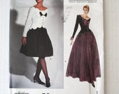1990s Bellville Sassoon Evening Cocktail Dress Pattern Vogue Designer Original 1015 Womens Formal Dress Sewing Pattern Sz 10 Bust 32.5 UNCUT