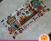 Mysterious Halloween Town Club : The Frosted Pumpkin Stitchery counted cross stitch patterns kawaii embroidery the cottage needle