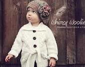 Crochet Beret Pattern: 'Raspberry Beret', Crochet Flower, Crochet Hat, Winter Fashion
