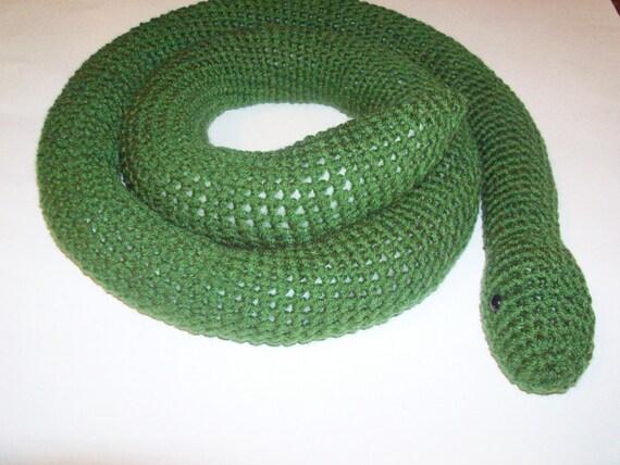 Solid Snake Amigurumi : Amigurumi Snake Green Crocheted Snake Finished by ...