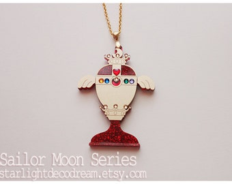 SALE Rainbow Moon Chalice Sailor Moon Inspired Acrylic and Jeweled Necklace for Mahou Kei & Magical Girl Fashion