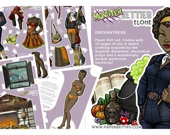 Monster Betties - Eloise Paper Doll