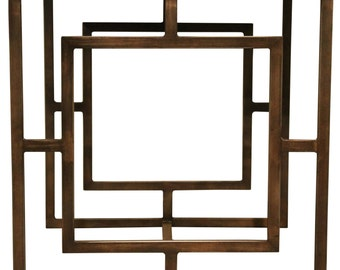 Art square industrial/modern side table