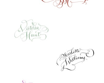 Your Name in Calligraphy - Hand lettering - Custom - Calligraphy - For business cards, Websites, designs